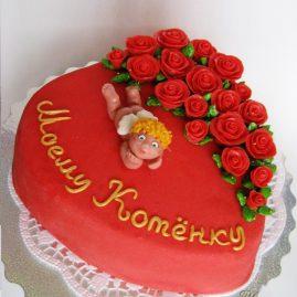 Торт на 14 февраля №525