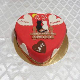 Торт на 14 февраля №530