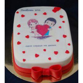 Торт на 14 февраля №535