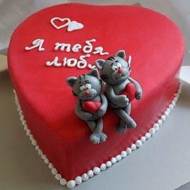 Торт на 14 февраля №536
