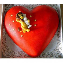Торт на 14 февраля №537