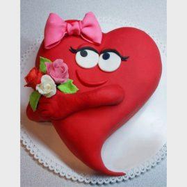 Торт на 14 февраля №540