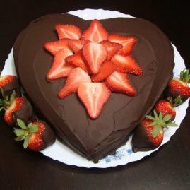 Торт на 14 февраля №545