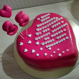 Торт на 14 февраля №546