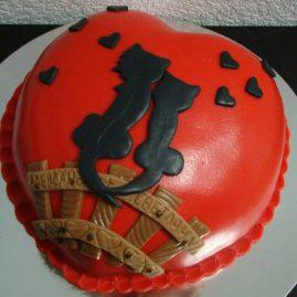 Торт на 14 февраля №547
