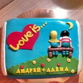 Торт на 14 февраля №549