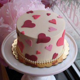 Торт на 14 февраля №554