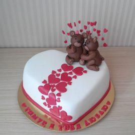 Торт на 14 февраля №556