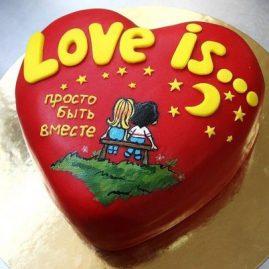 Торт на 14 февраля №559